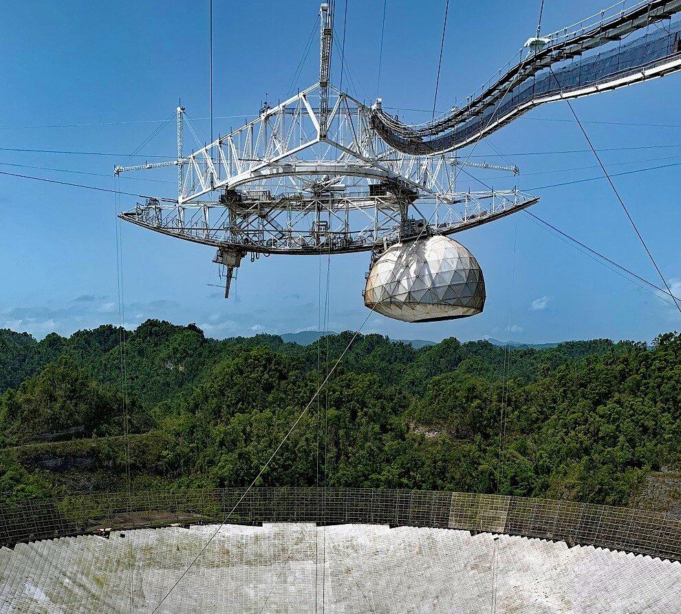 Radio-telescopul Observatorului Arecibo din Puerto Rico s-a prăbușit