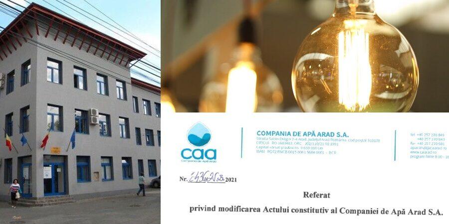 Compania de Apă Arad dorește să se ocupe (și) de comercializarea energiei electrice sau instalarea aparatelor de aer condiționat