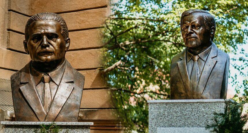 Noi busturi în Arad: Vasile Goldiș la Muzeul Memorial și fondatorul UVVG, Aurel Ardelean, la sediul Rectoratului